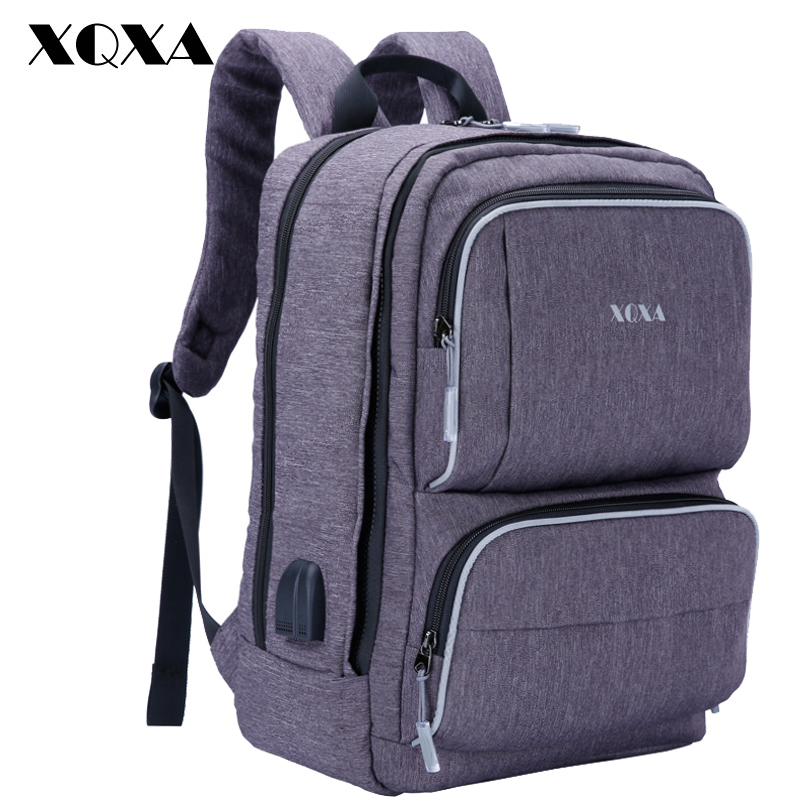 XQXA Creative Backpack Women Men Casual Bagpack 17 Notebook Laptop Backpacks School Bags for Girls Rucksack Mochila Feminina ozuko multi functional men backpack waterproof usb charge computer backpacks 15inch laptop bag creative student school bags 2018