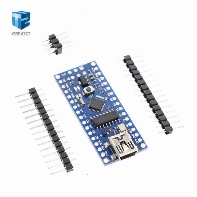 Nano 1 Uds. Mini USB con el controlador de arranque Nano 3,0 compatible con arduino CH340, USB driver 16Mhz NANO V3.0 Atmega328