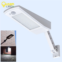 Garden 48LED 900LM Solar Energy LED Bulb Light Wall Lamp PIR Sensor Motion 4 Modes With