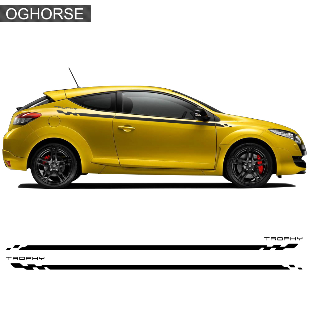 All Bout Cars Renault Megane Renault Sport: Car Styling Door Side Stripe Racing Sport Graphics Decal