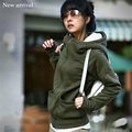 Women Long Hoodie Hooded Autumn Winter Loose Woman Hoodies Sweatershirt  Outerwear Suit Casual Long Coat Jacket