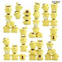 11 pçs/set 2 ~ 4 cm venda Quente Bonito Pom Pom Purin Cão Pudim Visão Q PVC Figuras de Animais Dos Desenhos Animados brinquedos