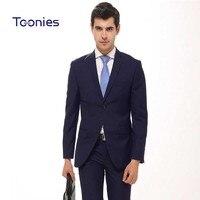 2017 New Fashion Mens Blazer Suit 2pcs Set Suit Pants Male Business Dress Formal Terno Masculino