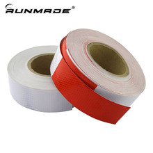 runmade 45M Truck Reflective Car Stickers Driver Safety Remind Accessories Reflective Strips Tape