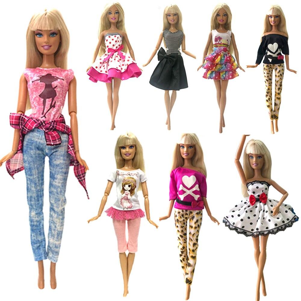 NK Mix Style 5 pièces poupée robe belle danse Ballet vêtements mode tenue décontracté vêtements pour Barbie poupée accessoires JJ