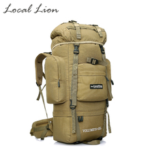 85L Tactical Backpack Climbing Backpack Sports Bag Army Rucksack  Waterproof Hiking Brand Backpacks Bags Molle LOCAL LION HT431