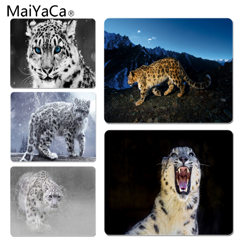 MaiYaCa Snow leopard Large Mouse pad PC Computer mat Size for 18x22x0.2cm Gaming Mousepads