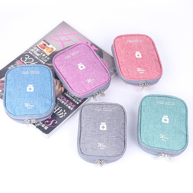 Fashion Travel Medicine Storage Bag Package Portable Suitcase Cleaning USB Case Holder Pouch Function Parts Travel Accessories