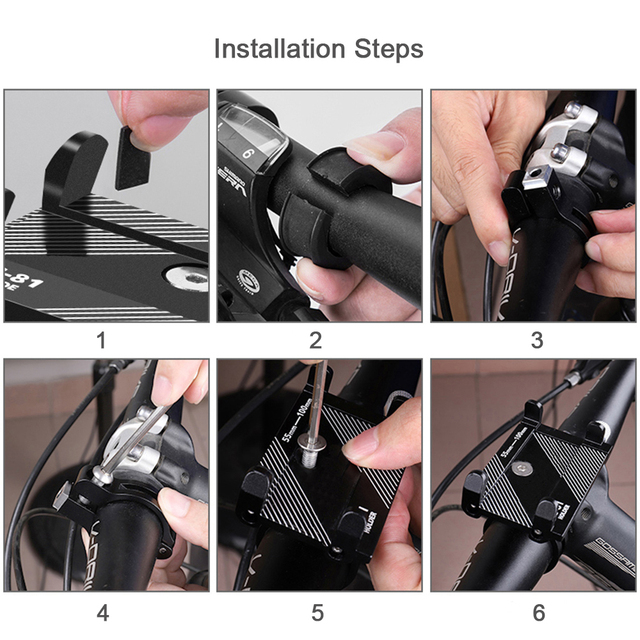 """Aluminum Alloy Bicycle Phone Holder Motorcycle Handlebar Mount for 3.5-6.2"""" Smart Phone for iPhone  Xs Max Xr X 8 Samsung Xiaomi 4"""