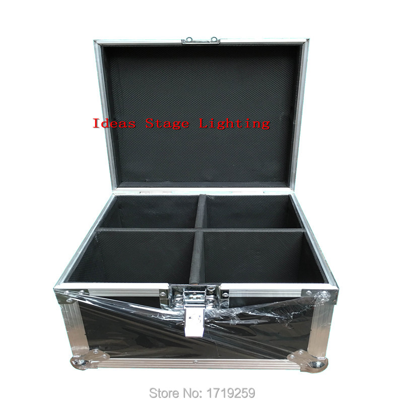 Flight Case with 4 pieces 18x3w RGB LED mini Moving Head Light Moving Head Wash Light Fast shipping flight volume 4