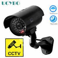 Fake Dummy camera security CCTV outdoor waterproof Emulational Decoy IR LED wifi Flash Red Led dummy video surveillance Camera