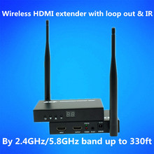 2.4GHz/5.8GHz 330ft Wireless WIFI HDMI Extender Kit 100m 1080P Wireless HDMI Video Audio Transmitter Receiver With Loop out & IR redamigo 5 8ghz wireless hdmi av video transmitter receiver ir extender up to 300m hdmi extender hdmi converter hdmi cable t580