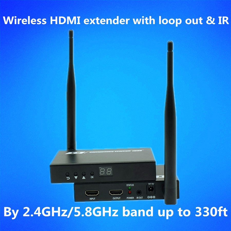 Super Quality 330ft Wireless HDMI Extender WIFI Transmitter 1080P Wireless HDMI Video Au ...
