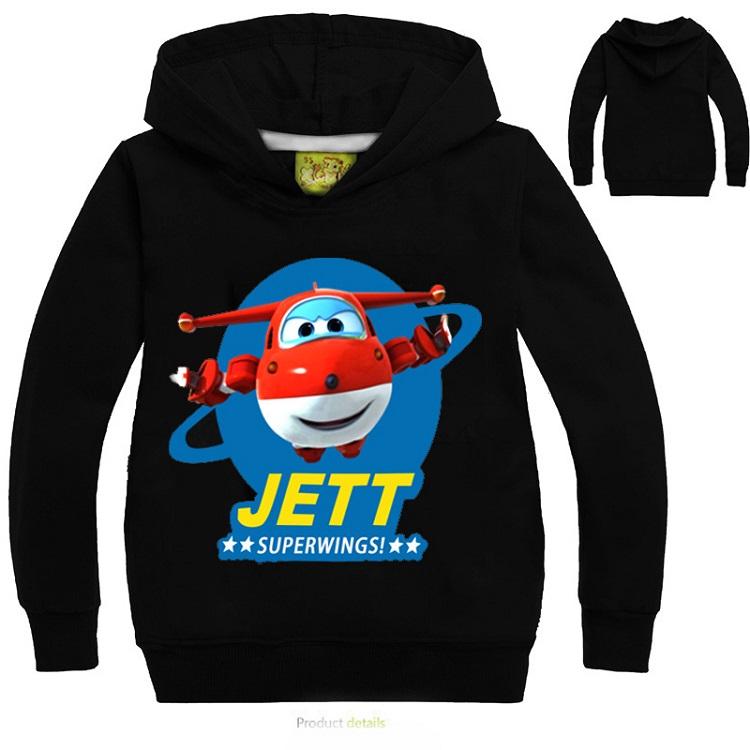 YLS 2 14Years Cartoon Jett Super Wings Clothes Funny T Shirts ... b029b7ed7