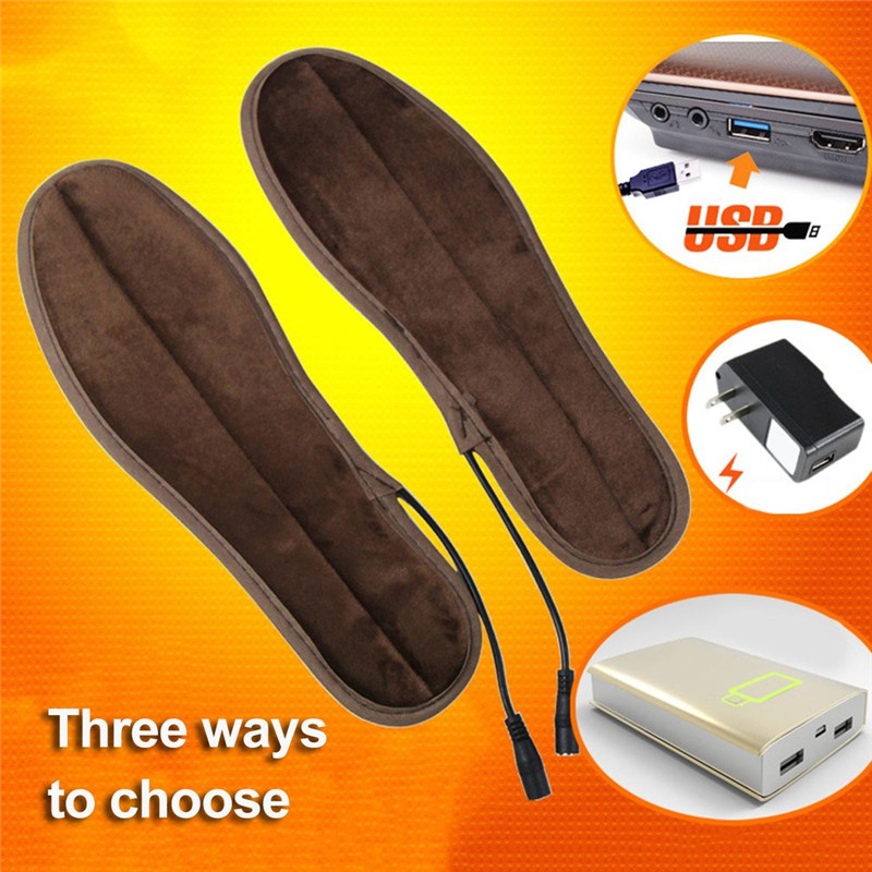Heated Insoles Unisex USB Charged Electric 1 Pair, Ikeacasa