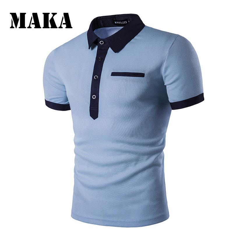 2f436563b Man Polo Shirt Brand Men s Clothing Short Sleeve Polo Shirts Casual Tops  Camisa Polos Male Cotton