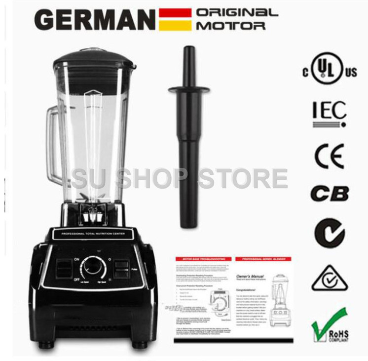 110V/220V GERMAN Original Motor 3HP BPA FREE commercial smoothies power food mixer juicer electric food processor professional bpa 3 speed heavy duty commercial grade juicer fruit blender mixer 2200w 2l professional smoothies food mixer fruit processor