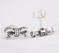New Pave Clear Zircon Bowknot Stud Earrings Fashion Christmas Earrings Best Xmas Gift Fits Women Jewelry
