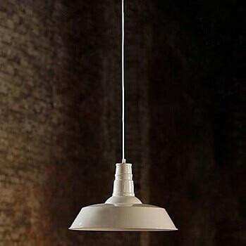ФОТО Retro Loft Style White Iron Edison Bulb Vintage Industrial Pendant Light With 1Light,Bulb Included Lustres Pendente De Sala Teto