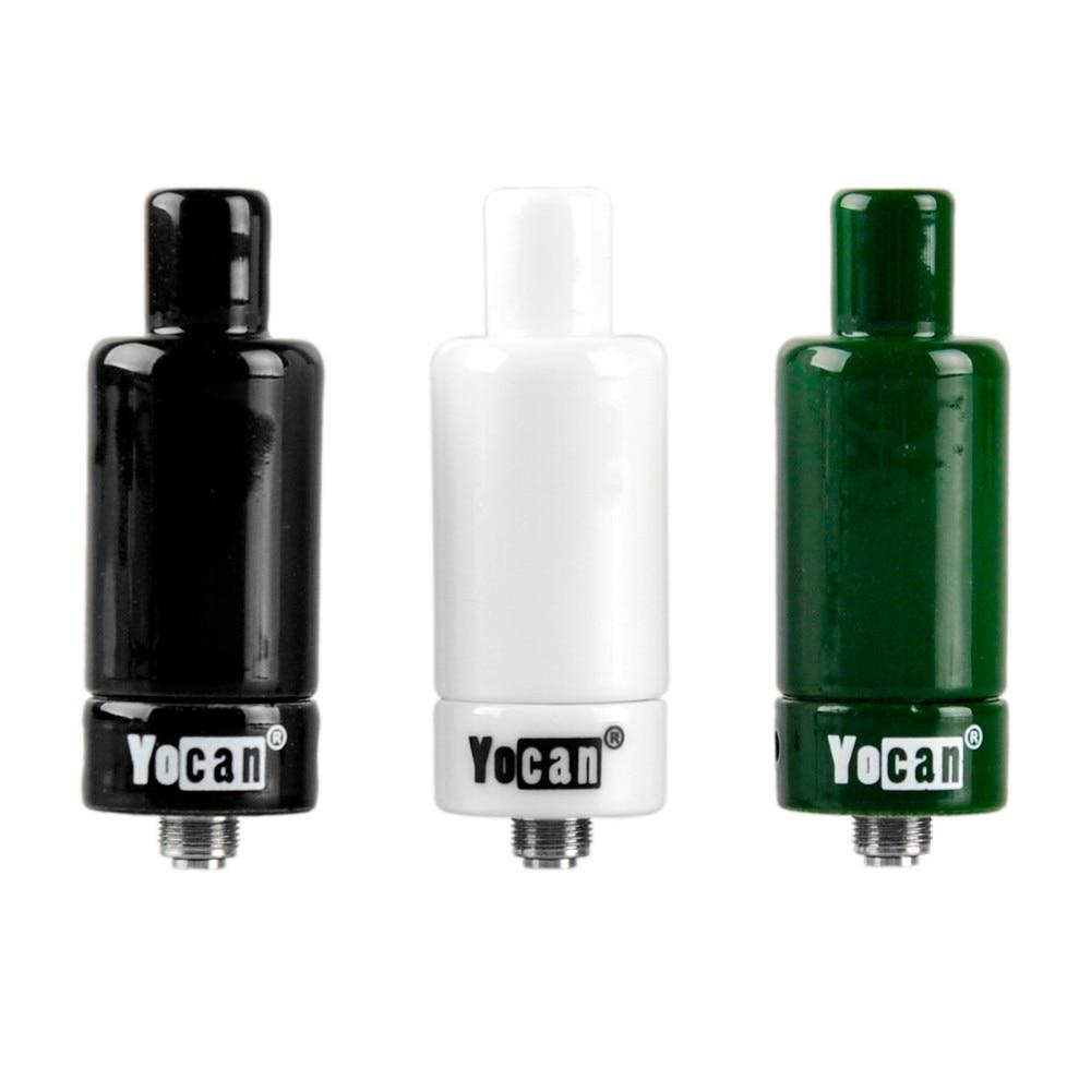US $12 5 |Original Yocan Cerum Atomizer ceramic tank wax vaporizer with  spare quartz dual coil VS yocan NYX electronoic cigarrate tank-in  Electronic