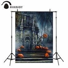 Allenjoy photography background Halloween pumpkin castle retro night backdrop photo studio newborn photobooth customize