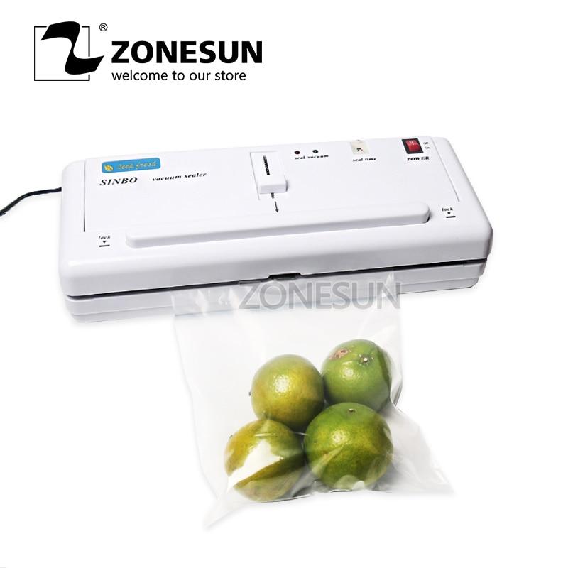 ZONESUN упаковочная машина бесплатную Экспресс-доставку запайки бытовой Вакуумная упаковка пищевых продуктов машина palstic пленочный герметик
