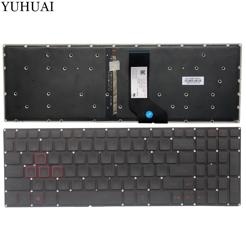 NEW US laptop keyboard For Acer Nitro AN515 52 AN515 53 AN515 53 52FA AN515 53