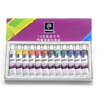 24 colores/18 colores/12 colores conjunto de cuero de la pintura de acrílico pintura de cuero de color de pintura