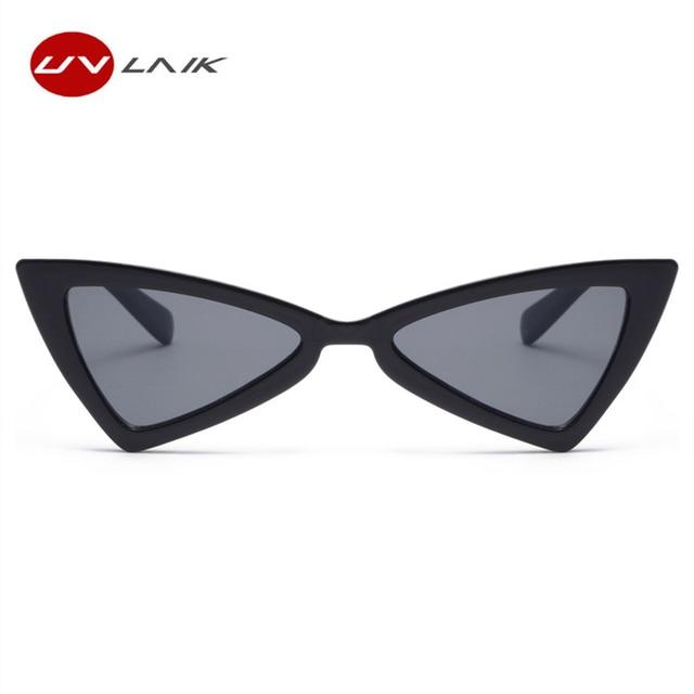 UVLAIK Triângulo Borboleta Olho de Gato Óculos De Sol Das Mulheres Designer  de Marca Do Vintage 05563d4485