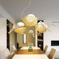North European led Bird / egg pendant light restaurant modern dining room lamp bar three head lamp pendant lamps ZA1129645