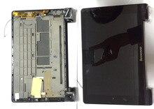 Para Lenovo Tablet Yoga 8 B6000 Completo LCD Panel de Visualización de la Pantalla Táctil de Cristal Digitalizador Asamblea Con Marco NEGRO, envío gratis