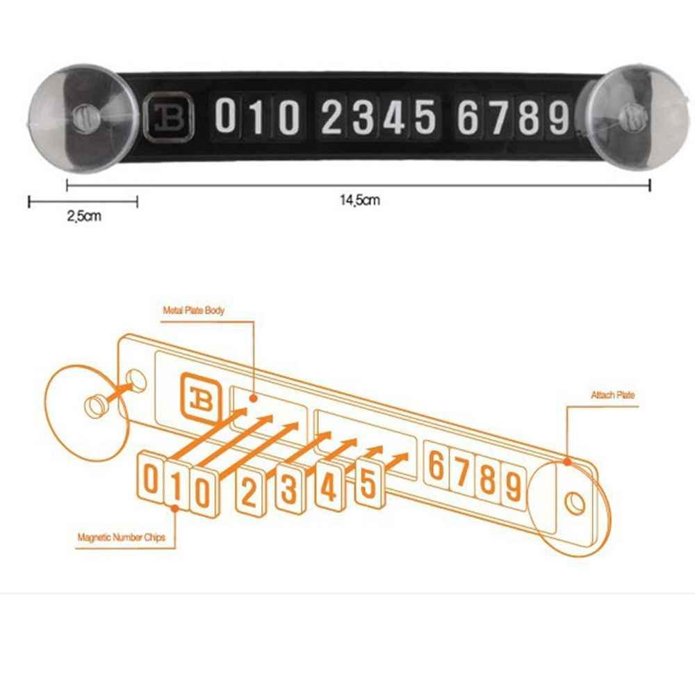 SEKINEW Venta caliente genial tarjeta de estacionamiento magnético Placa de tarjetas de número de teléfono tonto temporal etiqueta engomada del coche nuevo coche accesorios