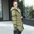 2016 New Fashion Winter Women Long Cotton-padded Clothes Loose Big Yards Bread Down Female Jacket Coat  Clothes B176