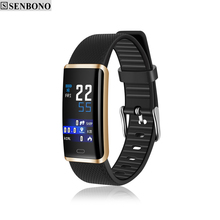 SENBONO R9 Fitness Tracker IP67 Waterproof Smart Band Remote Control Blood Pressure Heart Rate Monitor Smart Bracelet for Woman