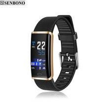 Senbono R9フィットネストラッカーIP67防水スマートバンドリモコン血圧心拍数モニタースマートブレスレット女性のための