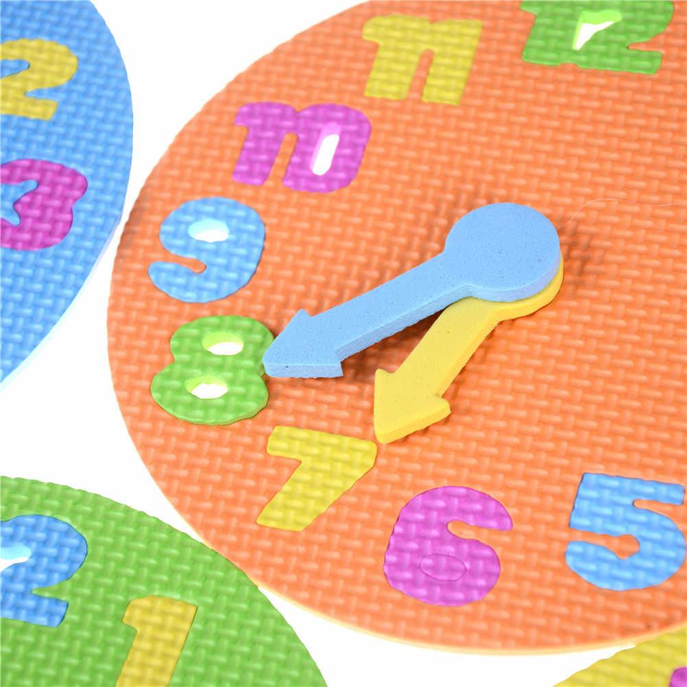 2018 Nova DIY Relógio Eva Aprendizagem Educação Brinquedos Divertido Jogo de Matemática para Crianças Presentes Do Brinquedo Do Bebê 3-6 anos idade para As Crianças