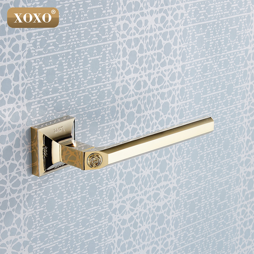 XOXO NEW Golden Brass Bathroom Wall Mounted Toilet Paper Holder Roll Tissue Holder/Towel ring17086G copper open toilet paper tissue towel roll paper holder silver