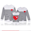 2017 autumn family clothing matching mother daughter clothes men women children hoodies father and son suits family look