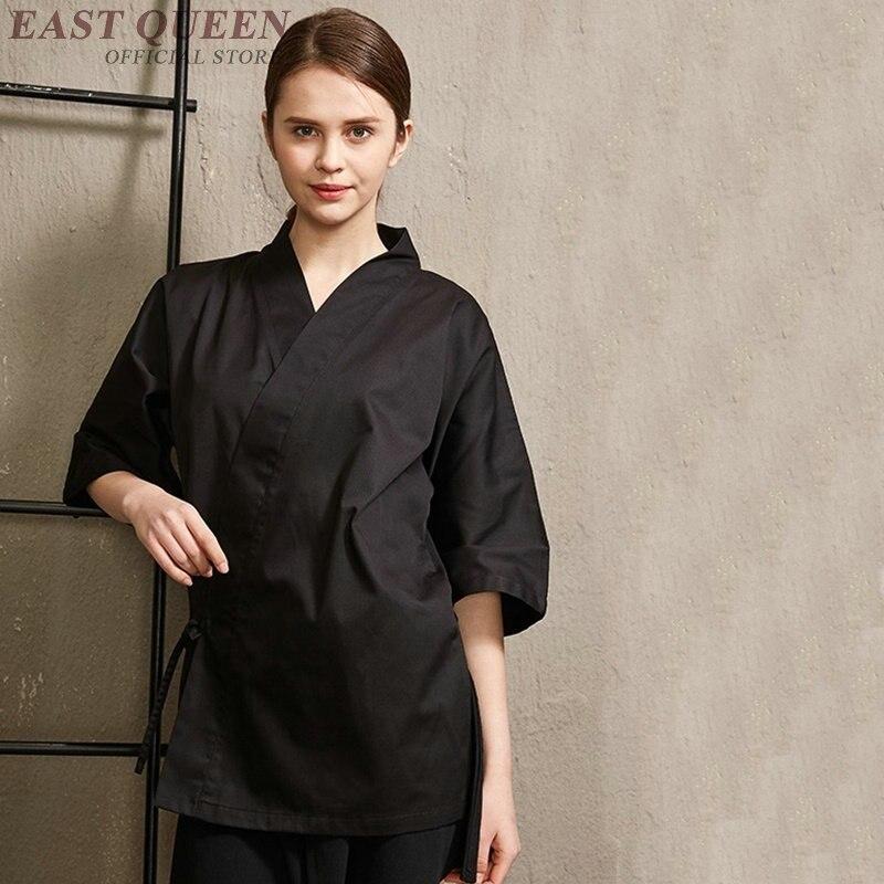 Restaurant japonais sushi uniforme restauration vêtements service alimentaire serveur serveuse veste unifrom vêtements DD1012 Y