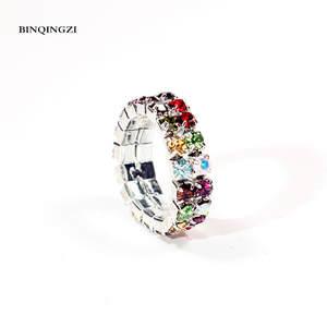 BINQINGZI crystal toe Ring adjustable rings for women 2018 7706612fa84c