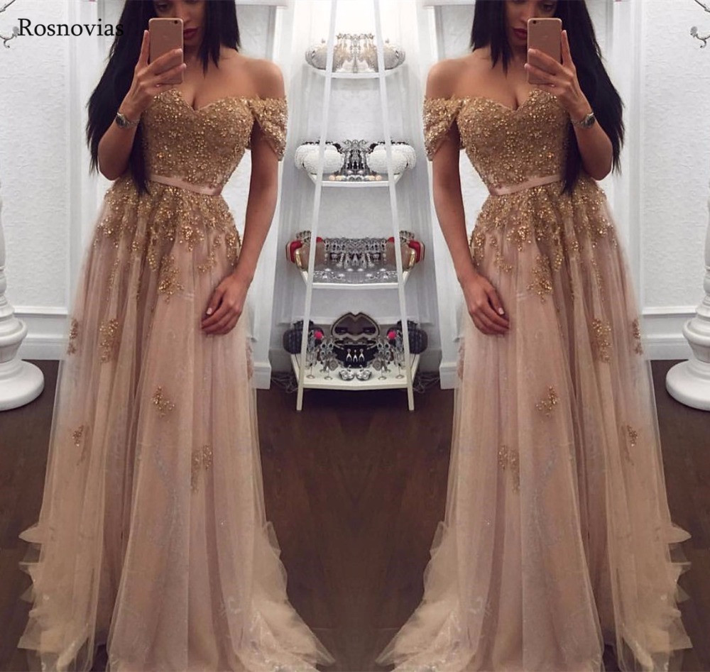 Off Shoulder   Prom     Dresses   2019 Sweetheart Sweep Train Major Beading Evening Party   Dresses   Formal Gowns Vestido De Fiesta Custom