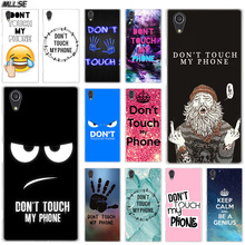 MLLSE Don't touch my phone Fashion Case Cover for Sony Xperia X XA XA1 XA2 Plus XA3 XZ XZ1 XZ2 XZ3 XZ4 Compact Z5 L1 L2 L3 Hot