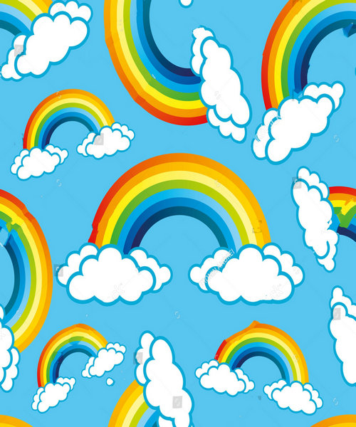rainbow cloud blue photo backdrop polyester or Vinyl cloth High quality Computer print wall photography studio background
