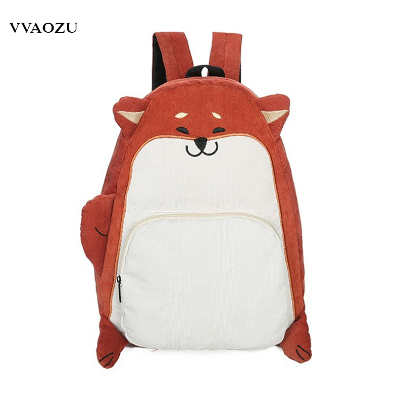 New Japan Cartoon Harajuku Animal Backpack For Women Students School Shoulder Bags 3d Dog Squirrel Travel Backpack Mochila