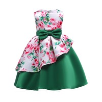2018 Asymmetry Hem Girls Wedding Dress Infantil Fancy Princess Dress Girl For Girls Clothes Tutu Dresses