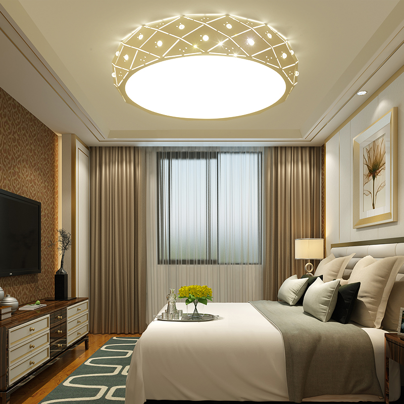 Ceiling Lights & Fans Bedroom Lights Led Ceiling Light Simple Modern Round Atmosphere Creative Living Room Personality Romantic Wedding Room Fixture Demand Exceeding Supply