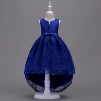 Girls Clothes 2 To 10 12 14 Year Child Fancy Blue Red Burgundy White Pink High Low Wedding Formal Dresses Evening Wear