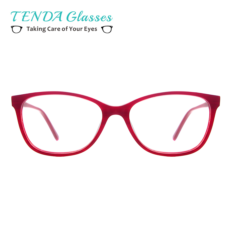 Fashion women oval acetate eyeglasses frame with spring hinge prescription spectacles for myopia reading multifocal lens