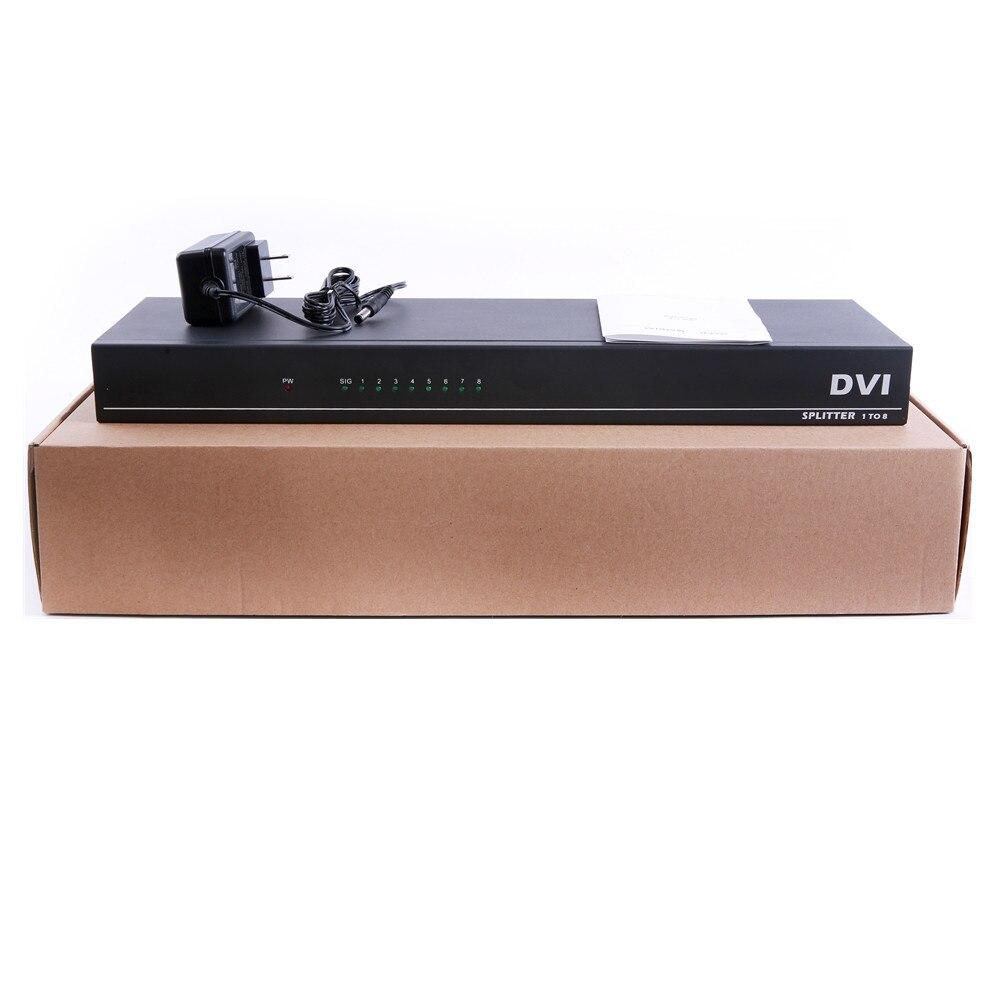 Image 5 - 8 портов разделитель DVI, Dual link DVI D 1X8 сплиттер адаптер дистрибьютор, разъем 4096x2160 5VPower для камера видеонаблюдения