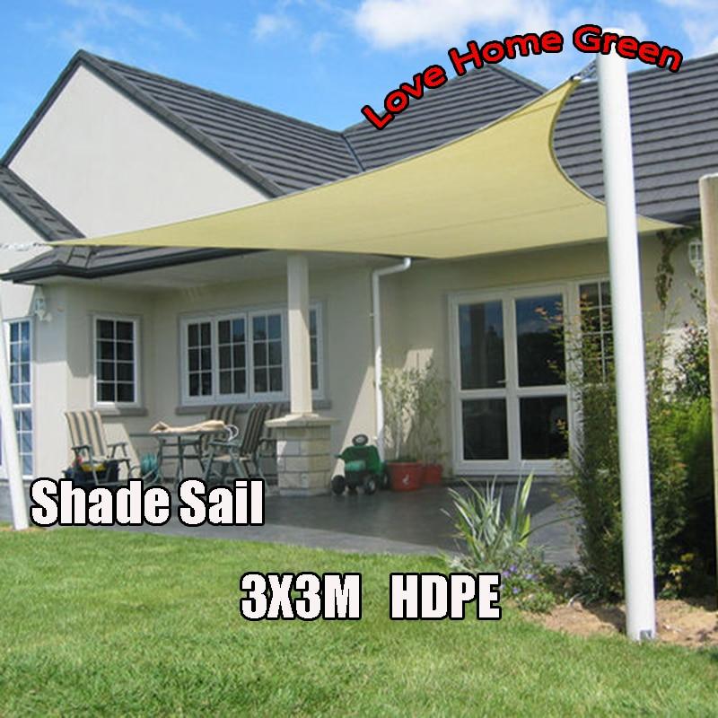 New Square Sun Shade Net Combination Shade Sail Garden